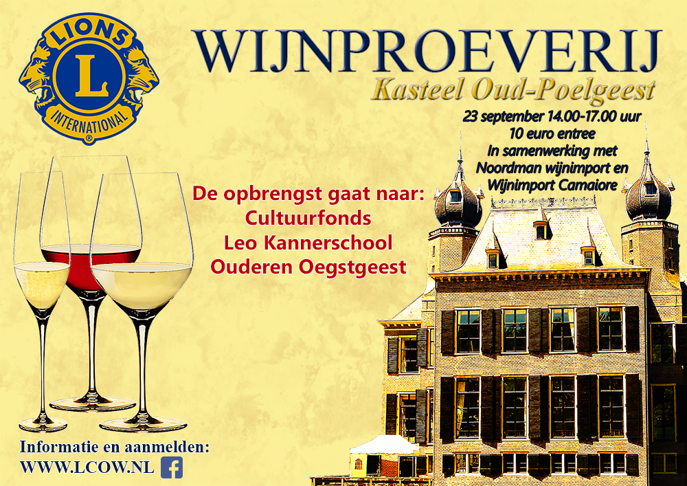Wijnen proeven en kopen voor het goede doel!